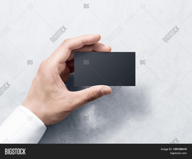 Hand Hold Blank Plain Black Image & Photo | Bigstock