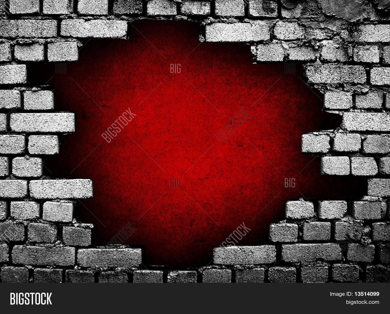 Large Hole Brick Wall Image & Photo | Bigstock
