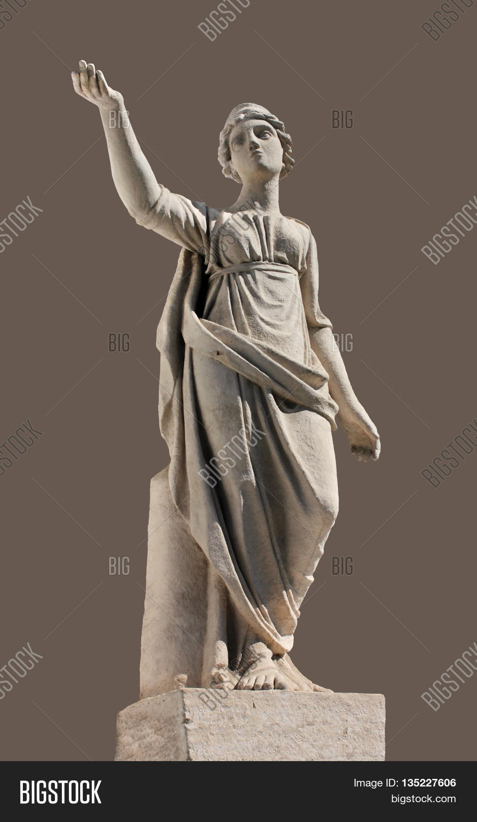 Ancient Leto Sculpture. Greek Image & Photo | Bigstock