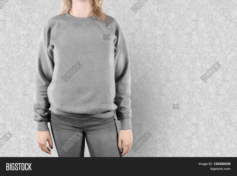 Blank Sweatshirt Mock Image & Photo (Free Trial) | Bigstock
