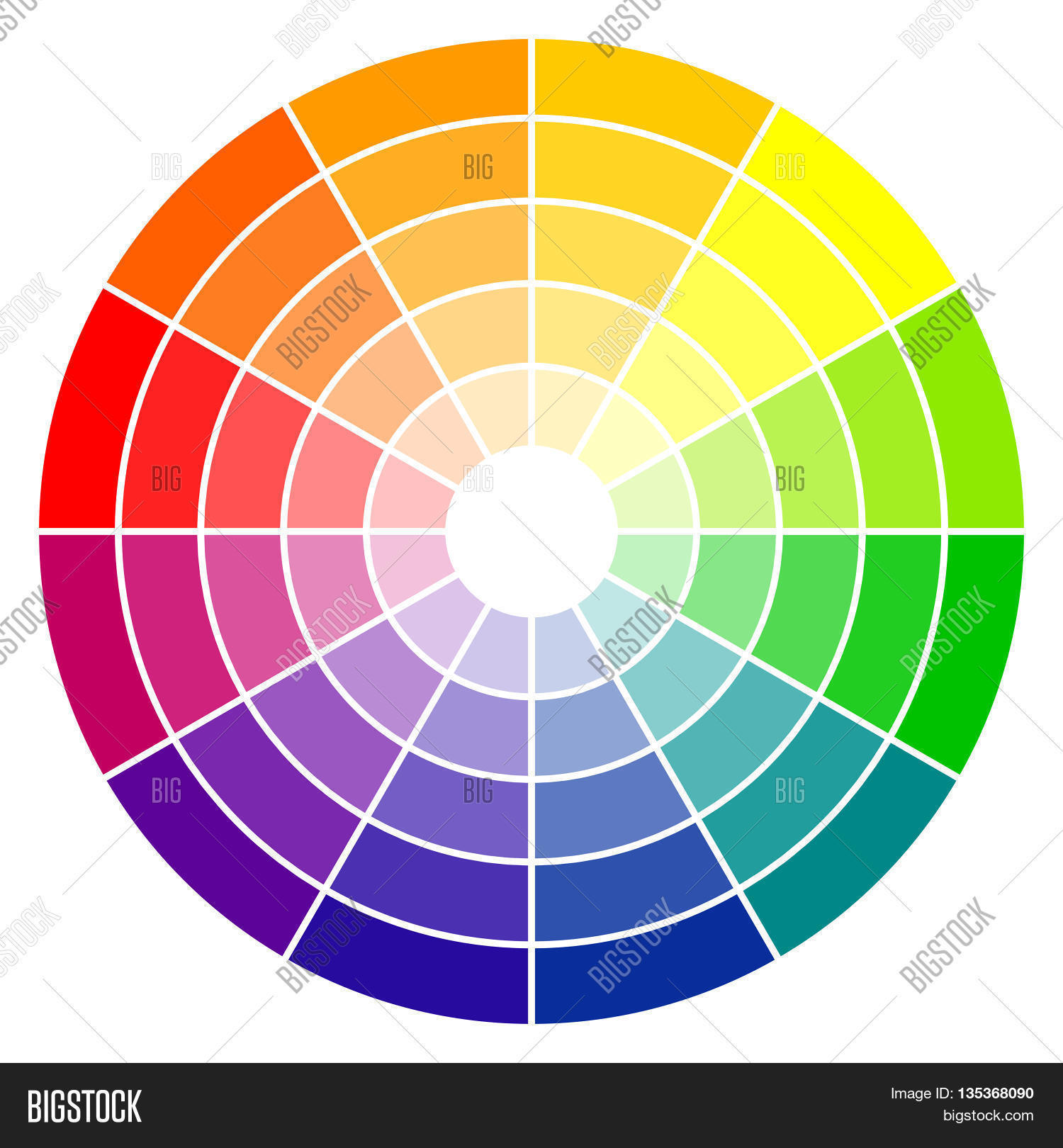 Color Wheel 12 Colors