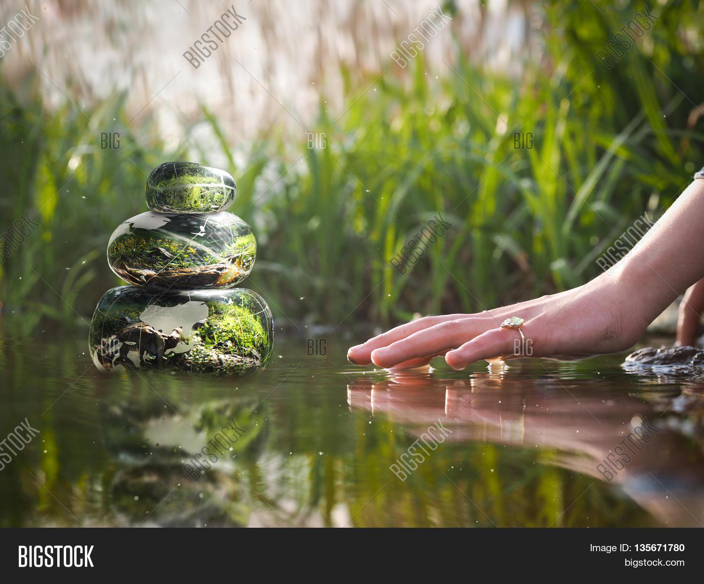 Transparent stones water zen image photo bigstock - Image zen nature ...