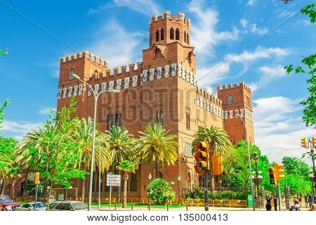 Barcelona Spain - May 3 2015: Barcelona Attractions Castell dels Tres Dragons Catalonia Spain