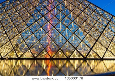Louvre Museum By Night