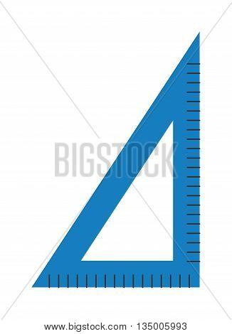 Corner ruler flat line art icon vector illustration icon. School icon symbol ruler education equipment. Vector ruler isolated icon. School symbol