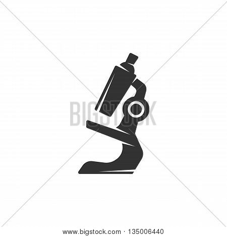 Microscope icon on white background. Microscope vector logo. Flat design style. Modern vector pictogram for web graphics. - stock vector