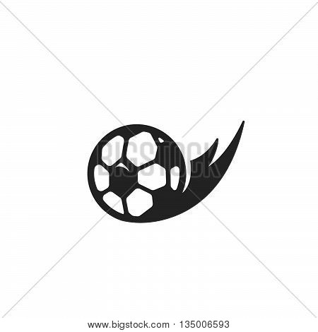 Football icon on white background. Soccer ball vector logo. Flat design style. Modern vector pictogram for web graphics. - stock vector