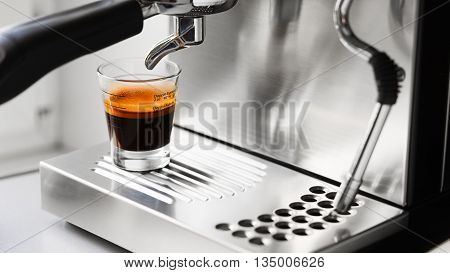 Cup Of Hot Espresso Coffee