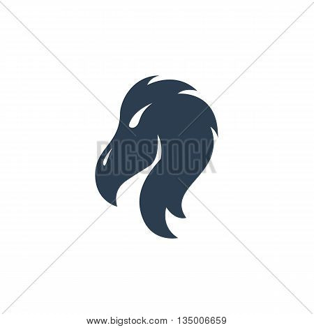 Vulture logo on white background - stock vector