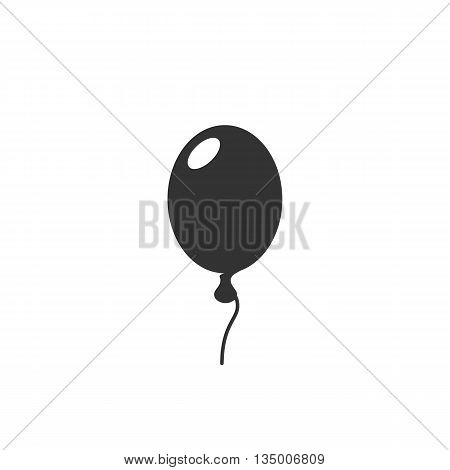 Balloon icon on white background. Balloon vector logo. Flat design style. Modern vector pictogram for web graphics. - stock vector