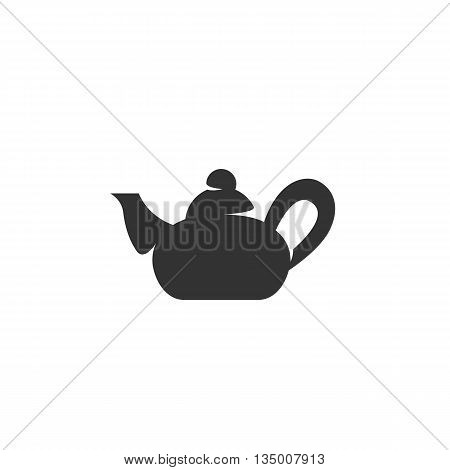 Teapot Icon on white background - stock vector