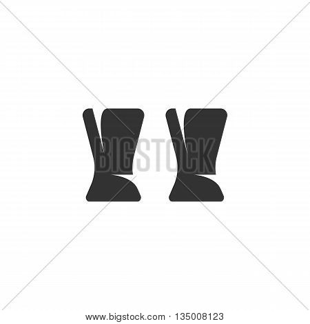 Glass icon isolated on white background. Flat design style - stock vector