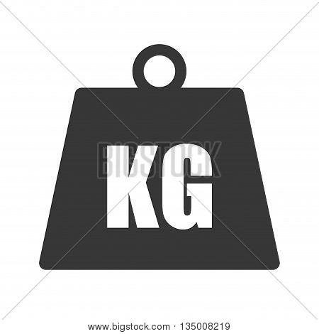 Metal Weight concept represented by Kilogram icon over flat and isolated background