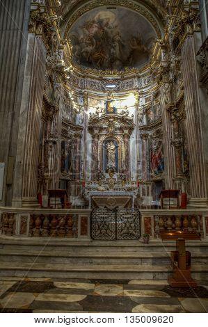La Basiilica Di Nostra Signora Delle Vigne In Genoa, Italy
