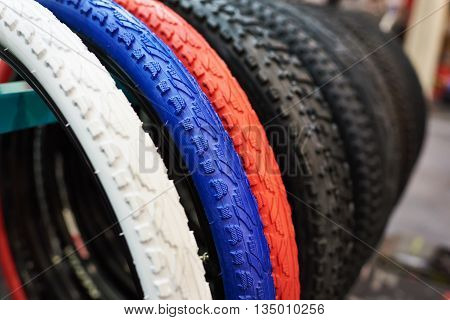 New Bicycle Tires With Different Color Tread