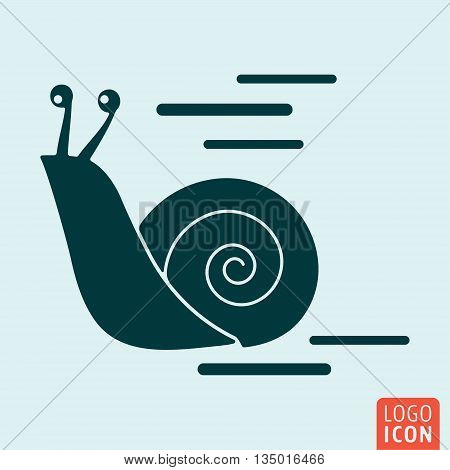 Snail icon isolated. Snail shell symbol. Vector illustration