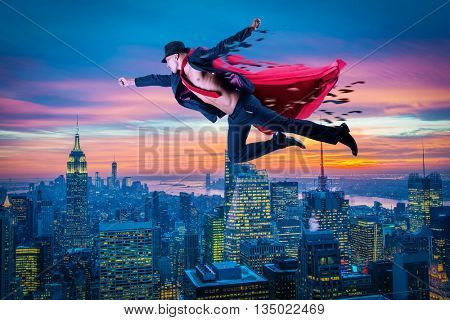 Superman and the city in concept