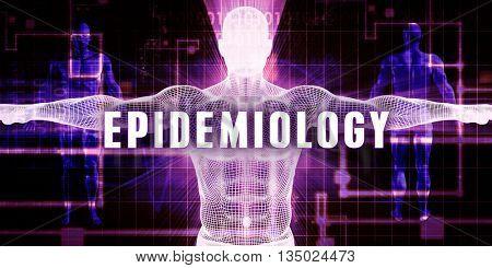 Epidemiology as a Digital Technology Medical Concept Art 3D Illustration Render