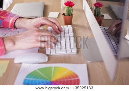 Typing Male Hands