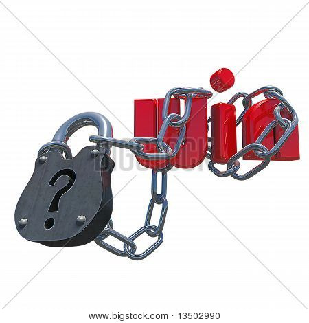 3D Questionmark Lock