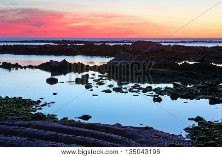 Sunset Ocean View From Beach