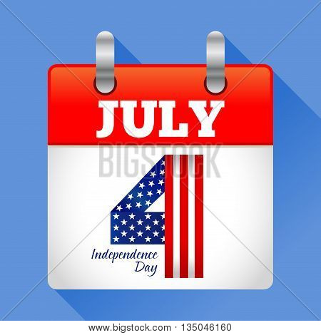 Vector stock of fourth july calendar icon American independence day symbol