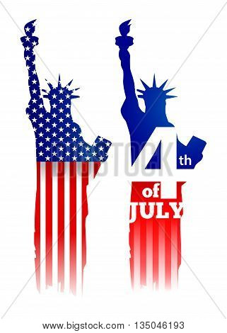 Vector stock of America independence day symbol statue of liberty new york landmark