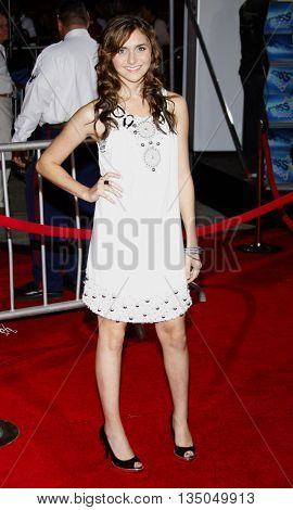 Alyson Stoner at the Los Angeles Premiere of 'High School Musical 3: Senior Year' held at the Galen Center in Los Angeles, USA on October 16, 2008.