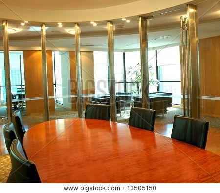 Área de reunión de sala de juntas