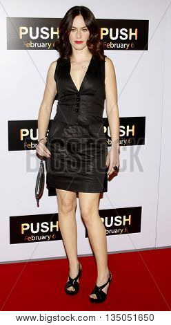 Maggie Siff at the Los Angeles Premiere of 'Push' held at the Mann Village Theater in Westwood, USA on January 29, 2009.
