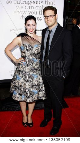 Lauren Miller and Seth Rogen at the Los Angeles premiere of 'Zack and Miri Make a Porno' held at the Grauman's Chinese Theater in Hollywood, USA on October 20, 2008.