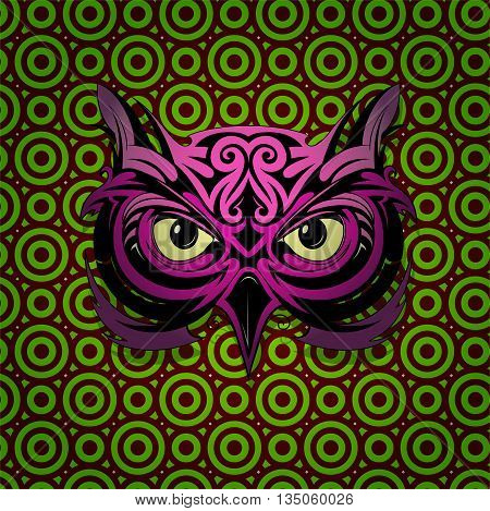 Mystic owl head shape with hypnotizing stare