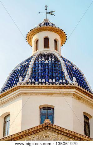 Mediterranean Dome In Altea, Costa Blanca, Spain