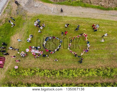 Rose Picking Festival Aerial View