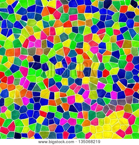 infra full color mosaic pattern texture background with white grout