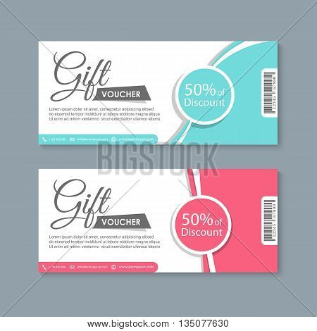 Voucher, Gift certificate, Coupon template, Coupon design template