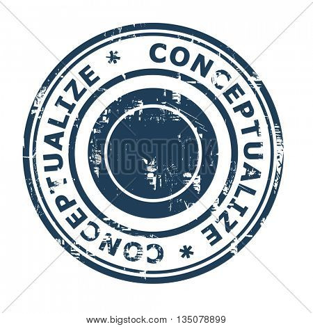 Conceptualize business concept rubber stamp isolated on a white background.