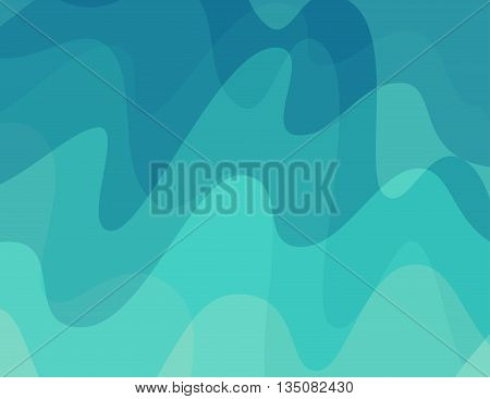 Aurora Borealis Vector Background in abstract style