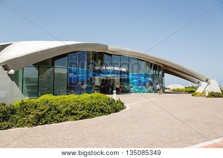 St Paul's Bay Malta - May 08 2016: Malta Nationale Aquarium in St Paul's Bay Malta