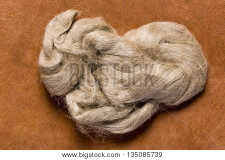 Raw jute fiber as it is used for the production of jute cloth