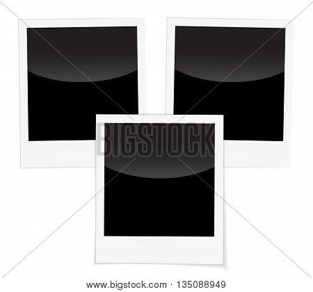 Retro Photo Frames Isolated On White Background