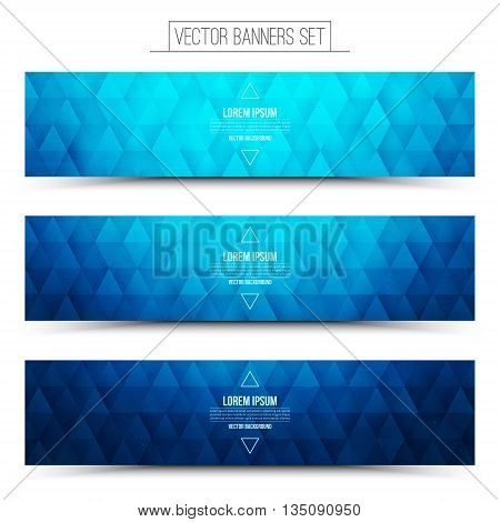 Vector Science Web Banners Set