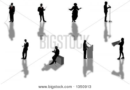 Speech Silhouettes
