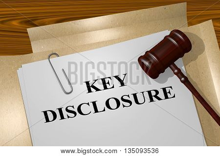 Key Disclosure Legal Concept