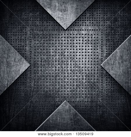 X pattern metal background