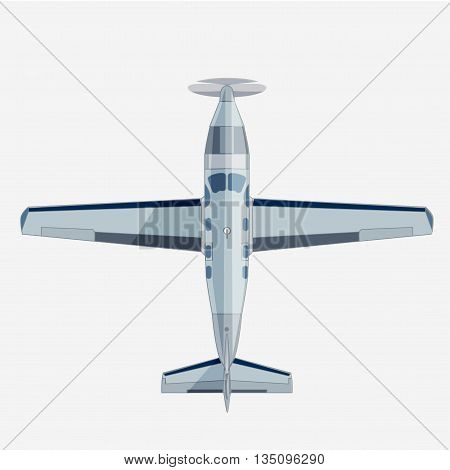 Plane in flat style. Vector stock illustration. Isolated on white background.