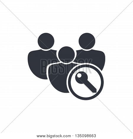 User Access Icon In Vector Format. Premium Quality User Access Symbol. Web Graphic User Access Sign