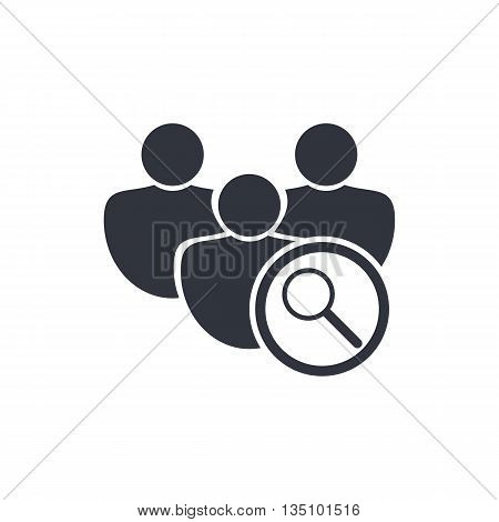 User Zoom Icon In Vector Format. Premium Quality User Zoom Symbol. Web Graphic User Zoom Sign On Whi