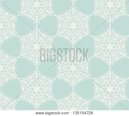 Vintage stylized ornament pattern in blue. Vector