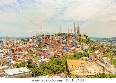 Santa Ana Hill In Guayaquil, Ecuador.